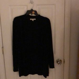 Black long sleeve cardigan with no buttons